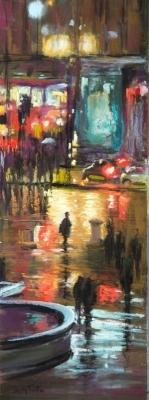 London reflections Soft pastel , 33x12 cm