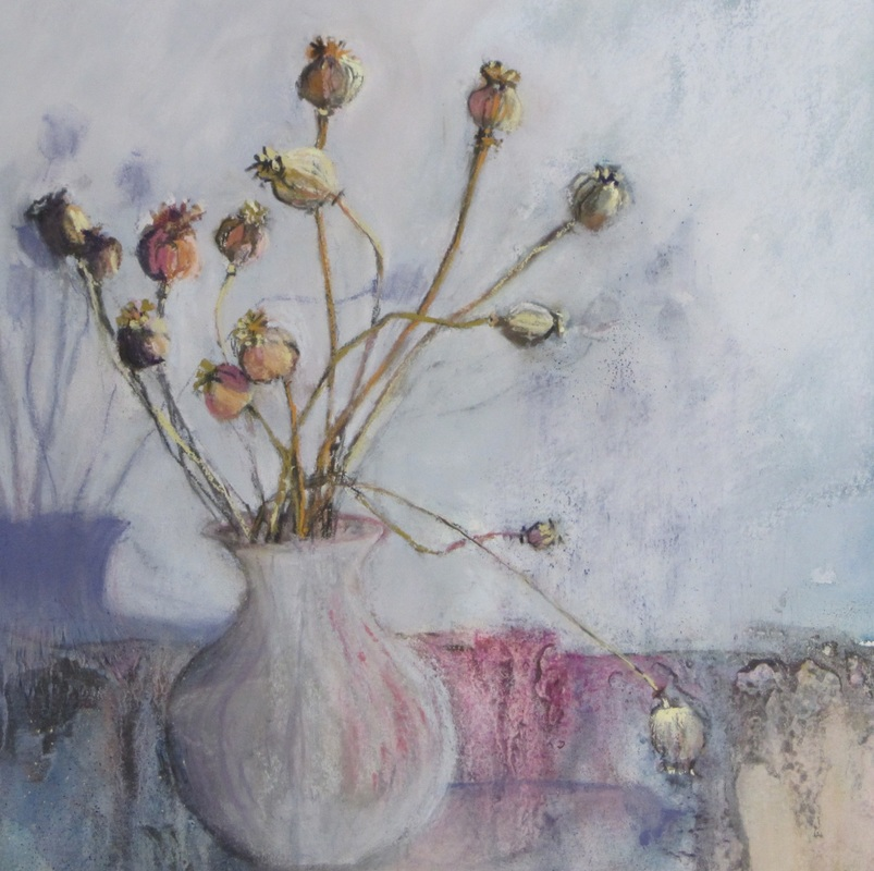 Poppy Heads Soft pastel 32 cm square £360