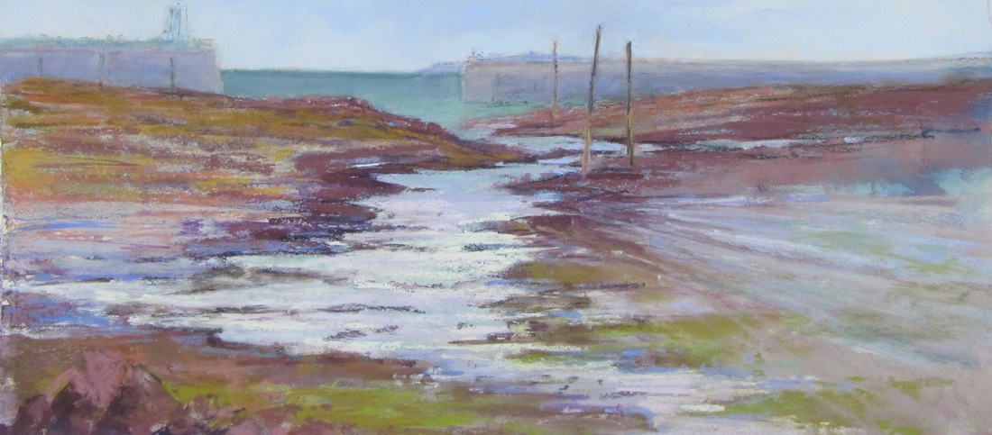 Time and Tide Soft pastel 20 x 46cm £450